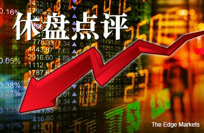跟随区域股市下跌 马股跌幅收窄