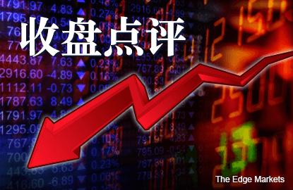 令吉疲弱和中国股市暴跌 拖累马股下滑