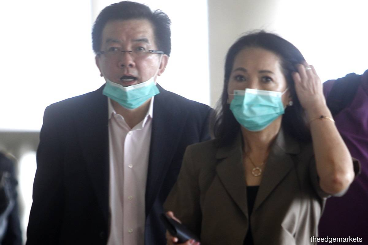 Thai (left) and his wife Datin Seri Cheryl Tan Bee Geok as seen today. (Photo by Mohd Izwan/The Edge Markets)