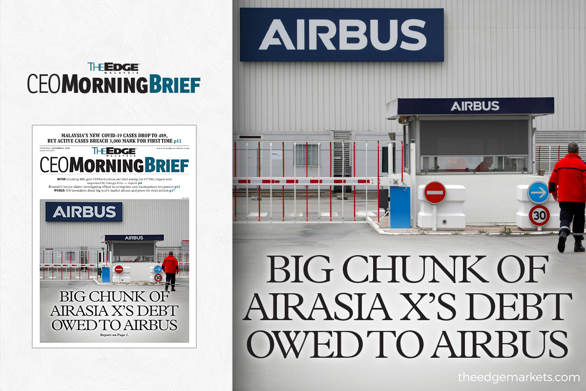 Big chunk of AirAsia X's debt owed to Airbus