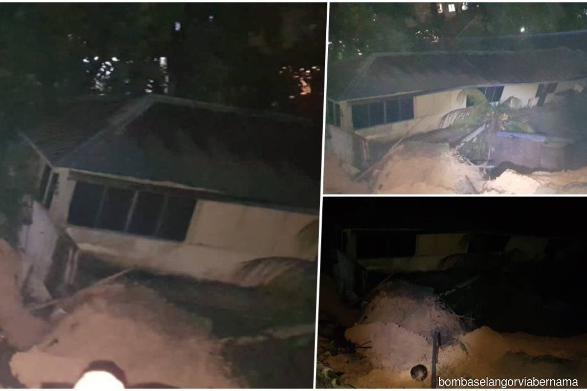 19 double-storey terrace houses affected by landslide in Kemensah Heights