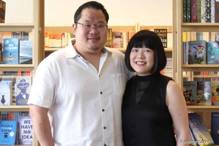 Fong Min Hun (left) and Elaine Lau, founders of Lit Books. (Photo by Mohd Izwan Mohd Nazam/The Edge)