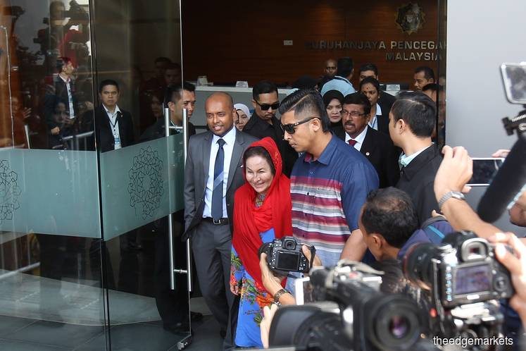 Rosmah has given her 'utmost cooperation' to MACC, her lawyers say