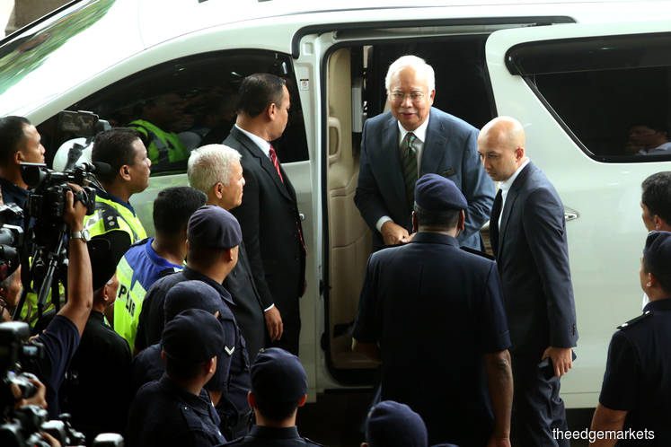 Najib arrives at KL Court Complex