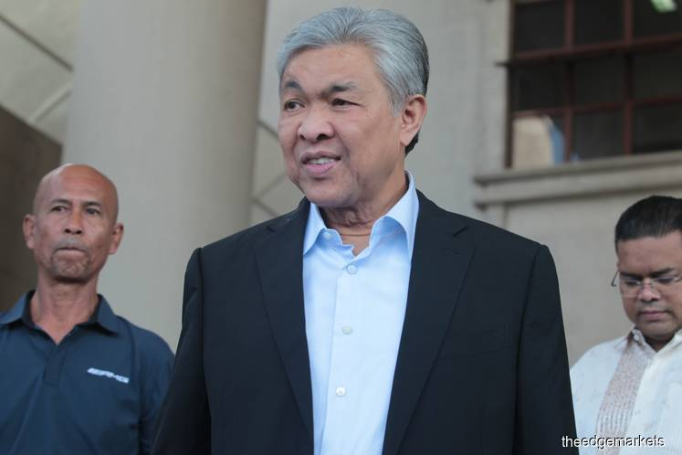 Zahid expected to face graft charges tomorrow and Thursday