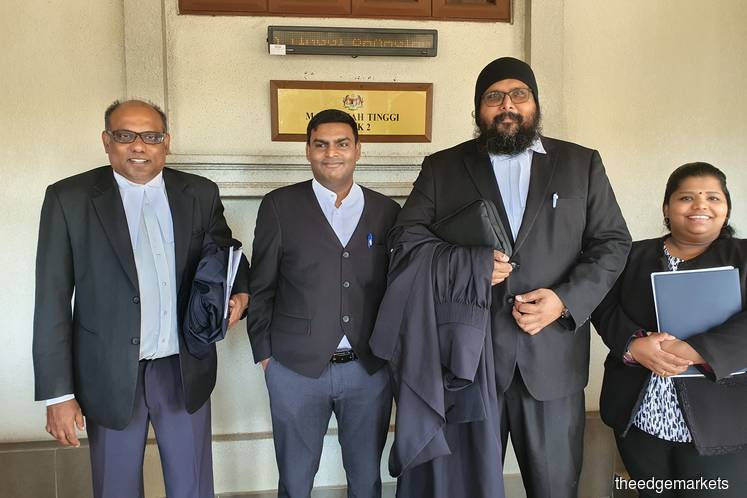 From left: Jeyaseelan Anthony, A Srimurugan and Dr Shamsher Singh Thind (Photo by Hafiz Yatim/The Edge)