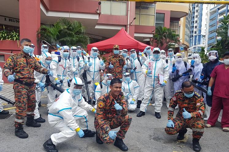 Bomba, MoH disinfect Menara One City building