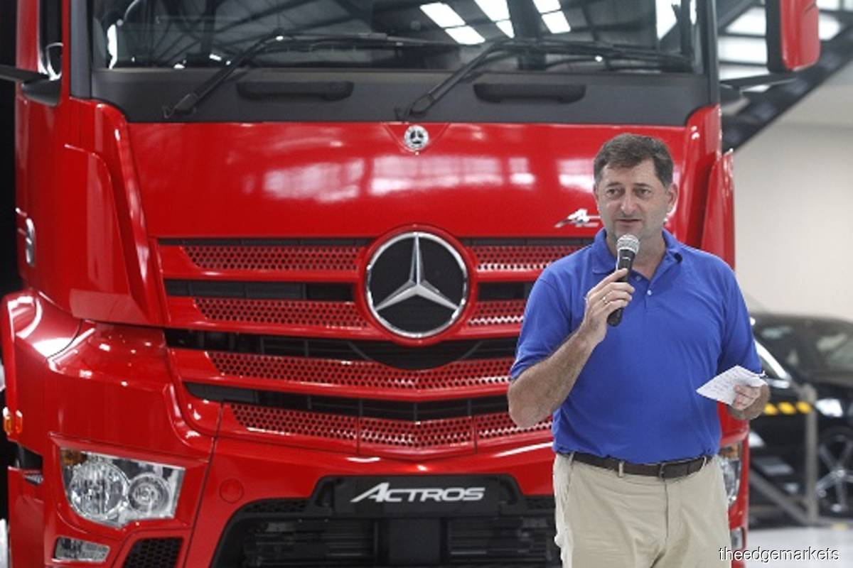 Hap Seng Trucks Distribution Sdn Bhd, the country's sole distributor of Mercedes-Benz trucks, remains committed to maintaining its lion's share of the market, backed by the new generation Mercedes-Benz Actros launched today, said its chief executive Roland Schneider (pix).