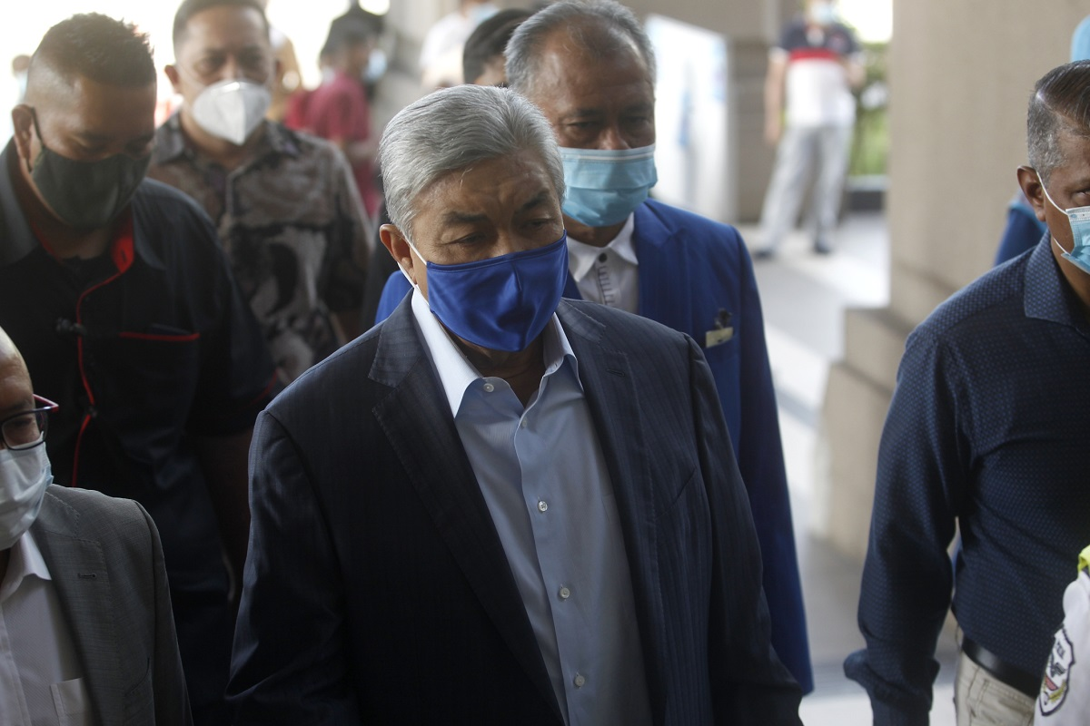 Zahid claims trial again after prosecution amends his CBT, corruption charges