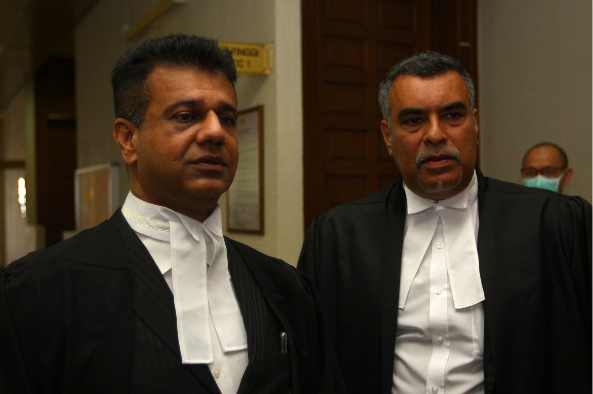 Synergy Promenade's lawyers RK Sharma (left) and Amrit Pal Singh. (Photo by Patrick Goh/The Edge)