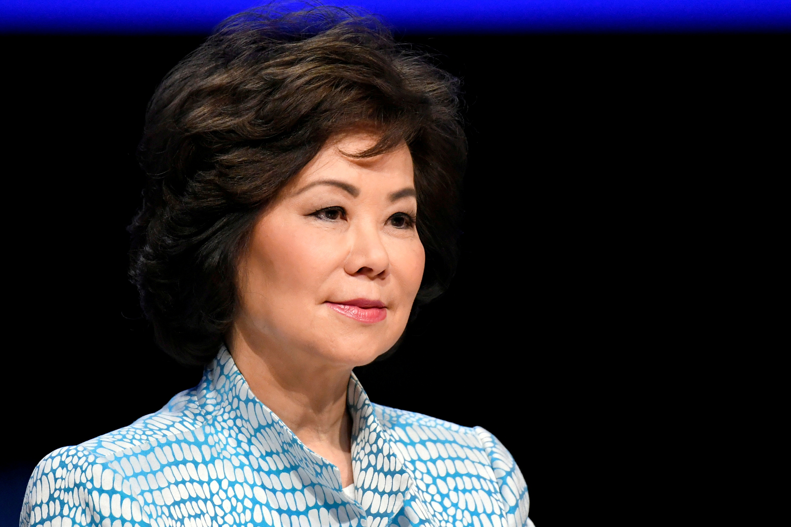 Elaine Chao, the US secretary of transportation, speaking at the Global Entrepreneurship Summit 2019 (GES 2019) in The Hague, Netherlands on June 4, 2019. (Photo by Reuters)