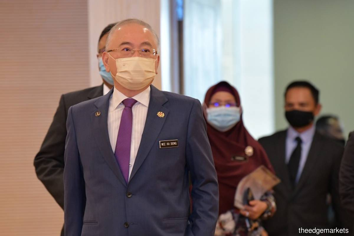 Datuk Seri Dr Wee Ka Siong (The Edge filepix by Suhaimi Yusuf)