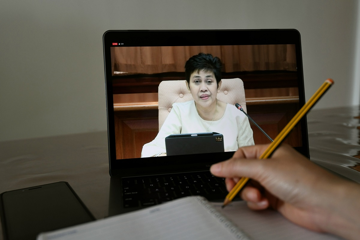 BNM Governor speaks at a virtual media briefing to release 1Q21 economic figures. (Photo by Sam Fong/The Edge)