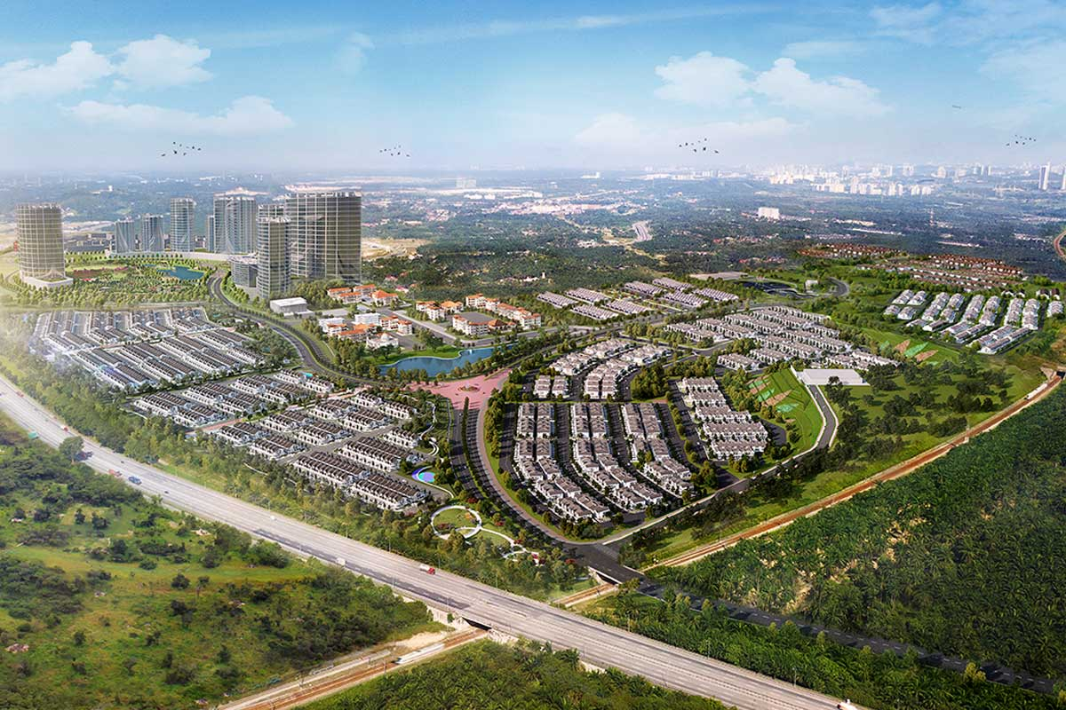Artist's impression of Serenia City in South Klang Valley