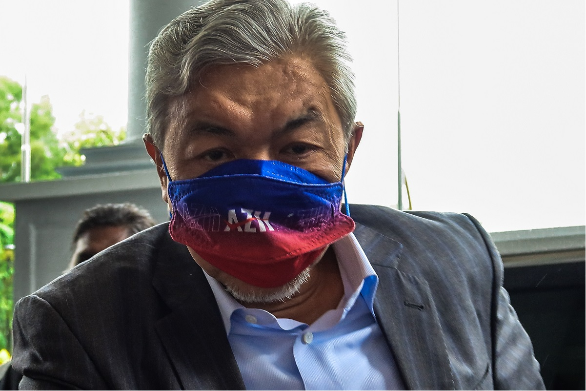 Zahid is on trial for 12 CBT charges, along with eight for corruption and 27 for money laundering, involving tens of millions of ringgit belonging to Yayasan Akalbudi. (Photo by Zahid Izzani Mohd Said/The Edge)
