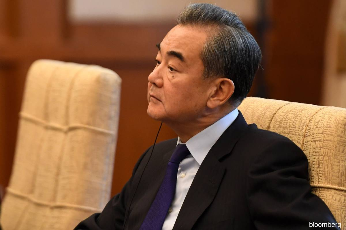 Chinese State Councilor and Foreign Minister Wang Yi (Bloomberg filepix)
