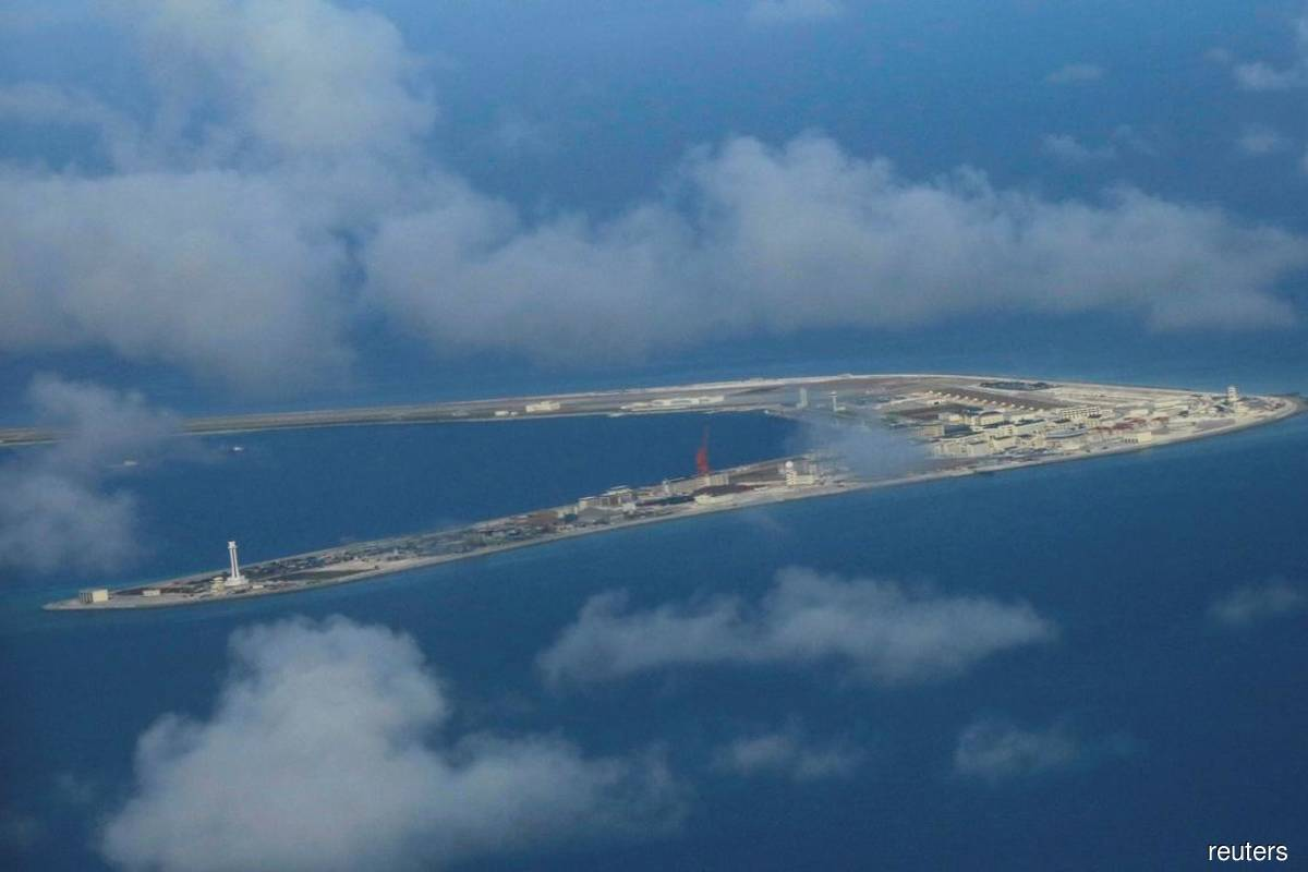 A Reuters filepix of a China-occupied area at Spratly Island, called Subi Reef, at South China Sea in April 2017 for illustration purpose only.
