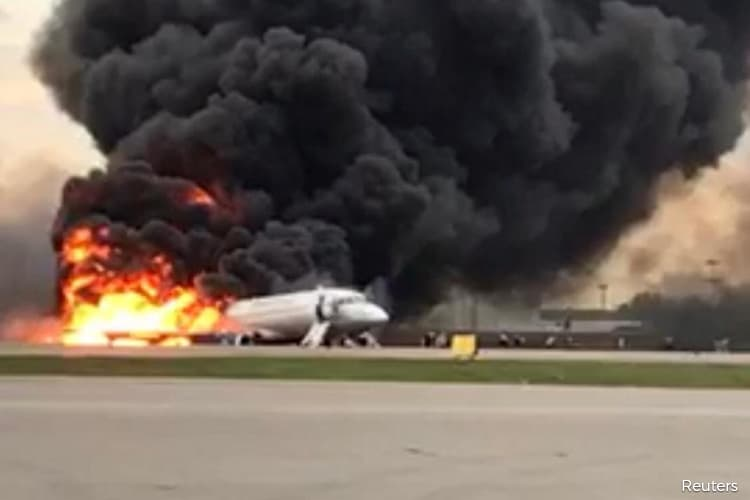 Aeroflot Plane Lands in Flames at Moscow; Up to 41 Dead Reported