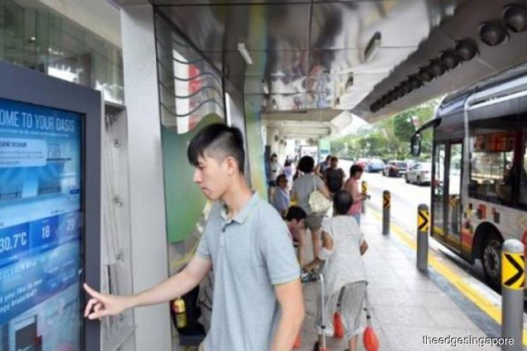 ST Engineering trials first-gen smart bus stop at Orchard Road