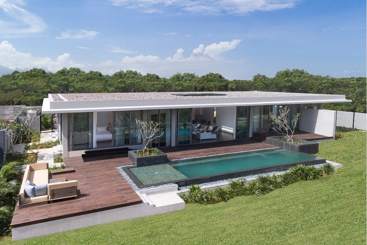 The development features 20 three- and four-bedroom private pool villas.