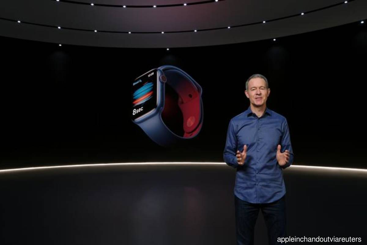Apple's chief operating officer Jeff Williams unveils Apple Watch Series 6 during a special event at the company's headquarters of Apple Park in a still image from video released in Cupertino, California, US on Tuesday September 15, 2020. (Photo credit: Apple Inc/Handout via Reuters)