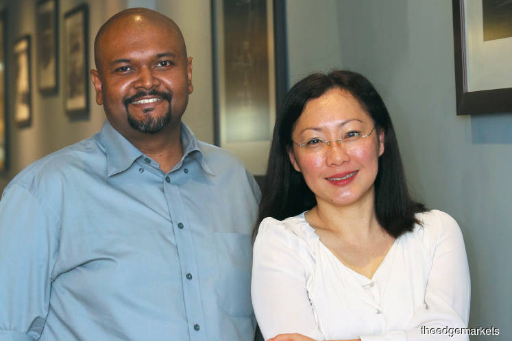 Ariff (seen here with Lim): Our in-house scientists and collaborators have the capability to develop our own tests. So, we are able to differentiate our tests and provide the best diagnostic accuracy for different populations in Asia.