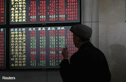 Down on global growth worries; foreign investors exit