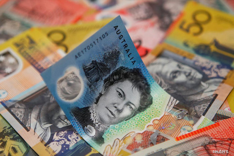 Aussie near 4-1/2-month peak on positive risk sentiment, sterling wobbly