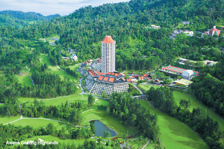 A round of golf at the improved Awana course in Genting Highlands