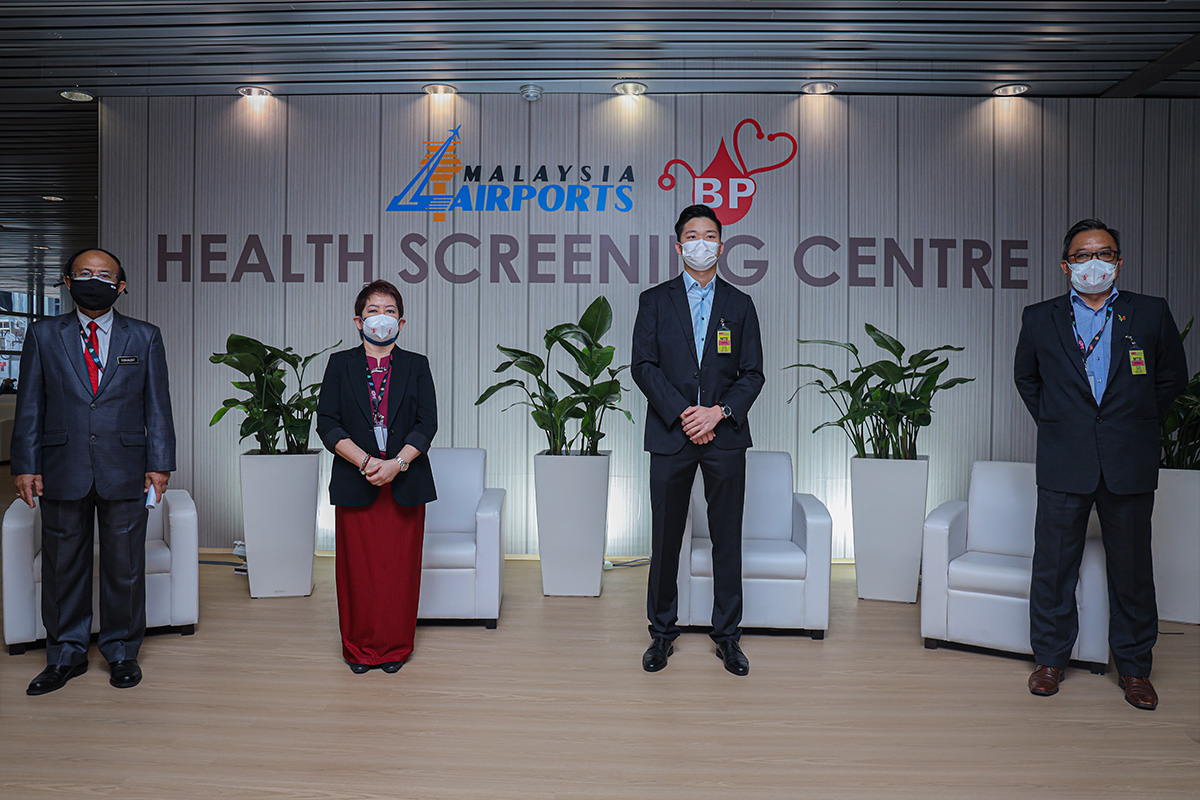 (From left) Datuk Dr Hj Rohaizat bin Hj Yon, Group Advisor of BP Healthcare Group, Madam Mah Lai Heng, Project Manager and Group COO of BP Healthcare Group, Mr Garvy Beh, CEO of BP Clinical Lab and Executive Director of BP Healthcare Group, Dato' Dr Hj Abd Razak bin Md Yusoff, Group Advisor of BP Healthcare Group