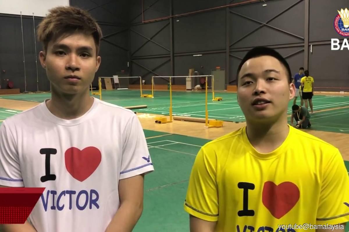 MalaysianNational No 1 men's doubles pair Aaron Chia-Soh Wooi Yik. (File photo credit: Youtube@BAMalaysia)