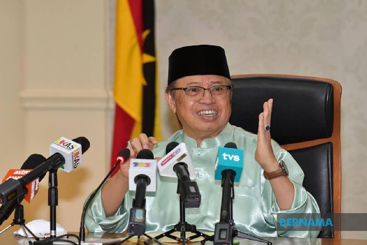 CM Abang Johari to consider public health, new mandate before calling for Sarawak election
