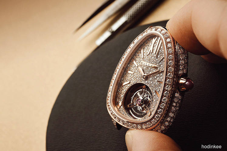 Bulgari Serpenti Seduttori Tourbillon. (Photos by Hodinkee)