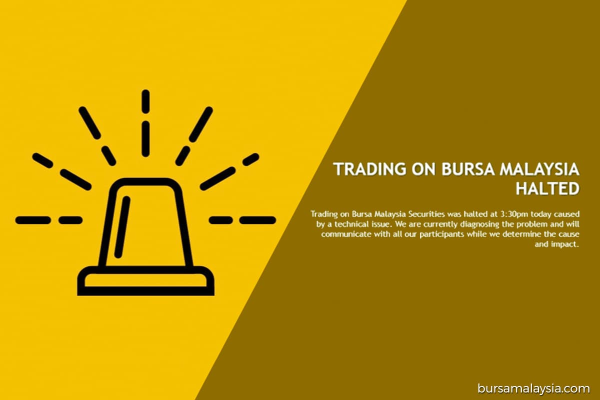 Bursa Malaysia confirms trading across the exchange halted due to 'technical issue'
