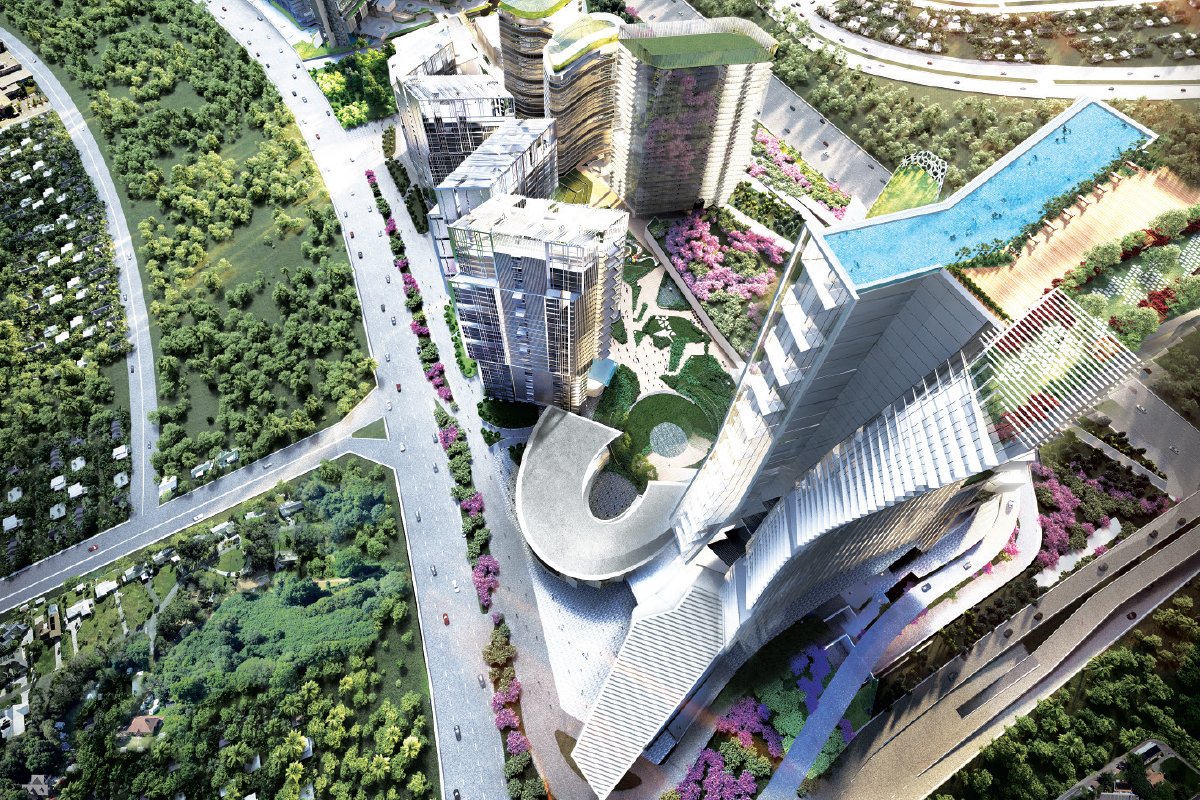 Artist's impression of Damansara Avenue ... The 48-acre mixed-use development has a total GDV of RM10 billion (Photo by TA Global)