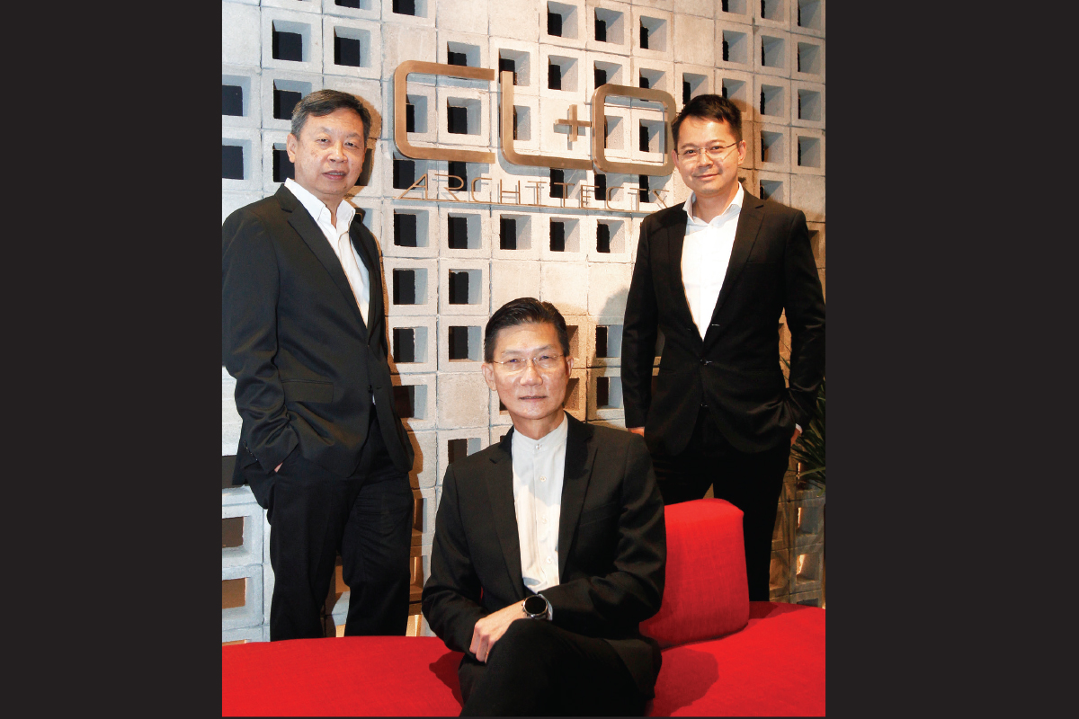 From left: Lee, Chiam and Oh founded CL&O Architects in 2013 (Photo by Mohd Izwan Mohd Nazam/The Edge)