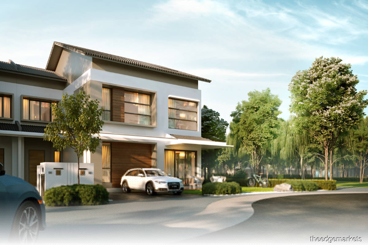 An artist's impression of a two-storey terraced home at Enso Woods (Photo by Gamuda)