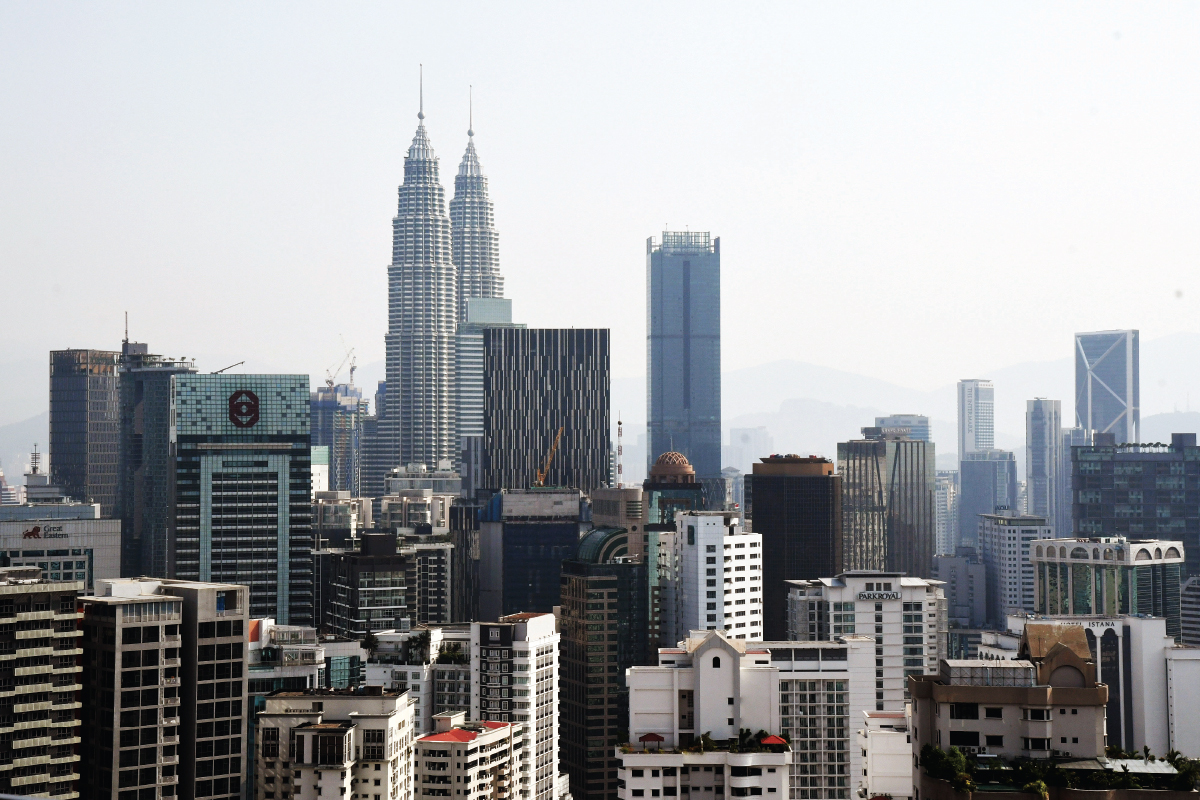 The Kuala Lumpur skyline … Among the solutions proposed by the professional bodies  is for virtual inspections to be accepted (Photo by The Edge)