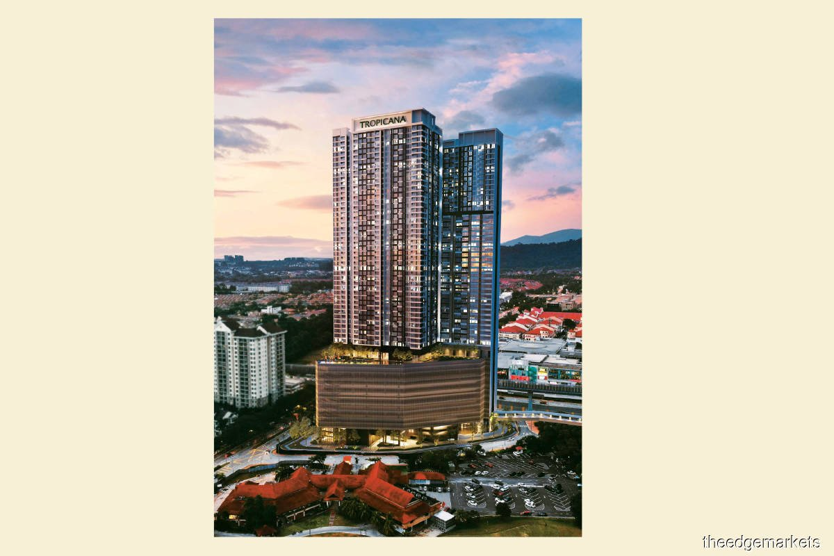 Artist's impression of Edelweiss SOFO & Serviced Residences, the fifth and final tower at Tropicana Gardens (Photo by Tropicana)