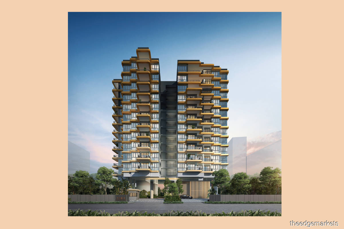 Located on Meyappa Chettiar Road and Woodsville Close, Myra comprises a 12-storey tower with 85 residential units (Photo by SDB)