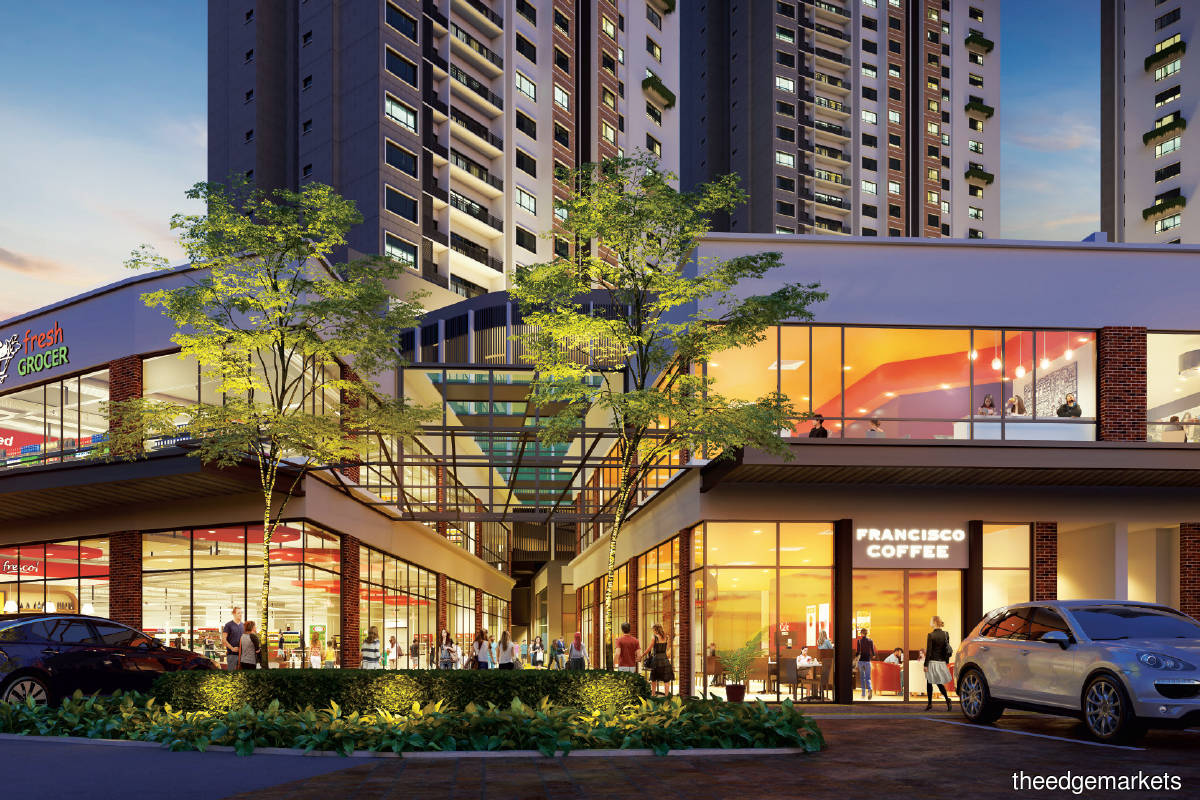 Located on a 6.5-acre freehold parcel, the mixed-use development will offer 868 residential units in total (Photo by Berjaya Land)