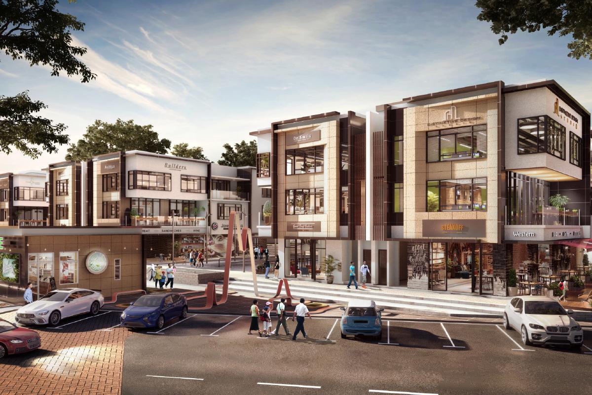 The 68 units of one-, two- and three-storey shops at Uptown @ Rimbayu make up Phase 1 of Nadi Rimbayu BizHub's commercial component (Photo by IJM Land)