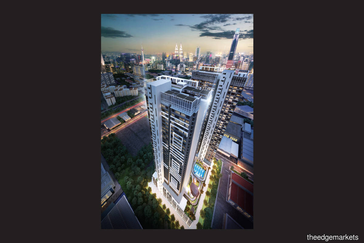 An artist's impression of Trion2@KL, which offers 600 condominium units in two blocks, or eight units per floor (Photo by Binastra Land)