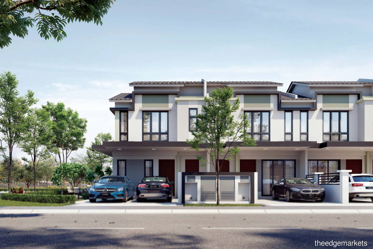 With a total gross development value of RM72 million, Primrose comprises 123 units of 2-storey terraced homes with 4-bedroom and 3-bathroom layouts (Photo by Glomac Bhd)