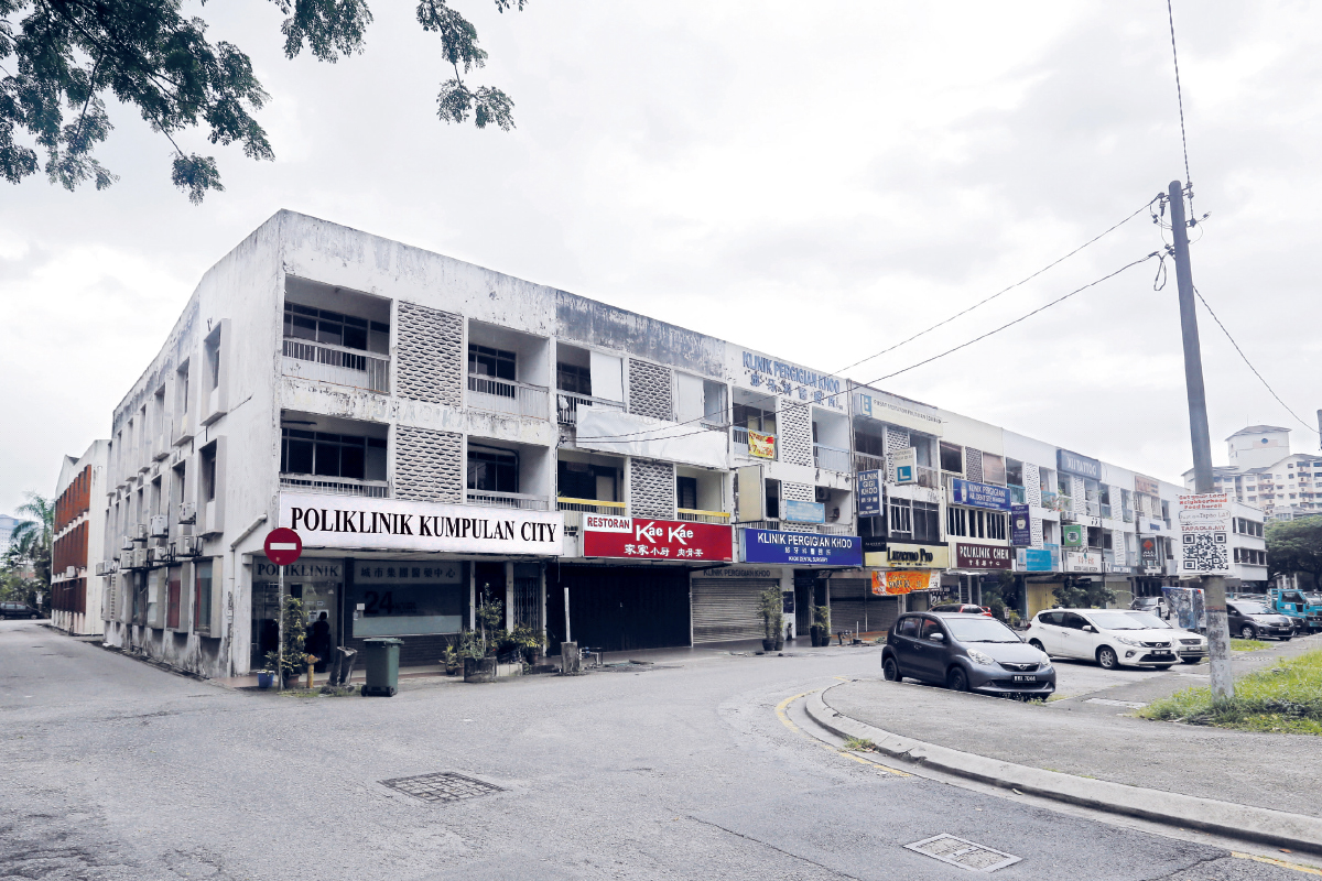 The prices of shopoffices at Jalan Awan Hijau have been trending upwards largely due to the limited supply and units available for sale, says Chan (Photos by Zahid Izzani/The Edge)