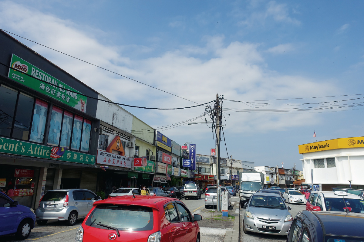 The Sea Park commercial area, usually bustling with vehicular and pedestrian traffic, caters for the immediate housing areas in and around the Seksyen 21 neighbourhood (Photo by Chai Yee Hoong/The Edge)