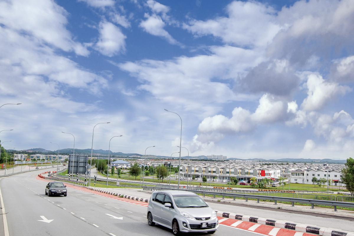 Shah Alam's new growth area (Photo by Shahril Basri/The Edge)