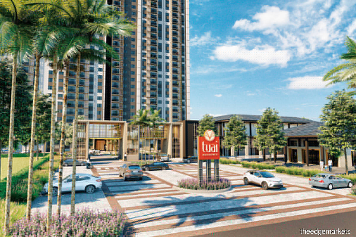 Tuai Residence has a gross development value of RM190 million (Photo by Suntrack Development)