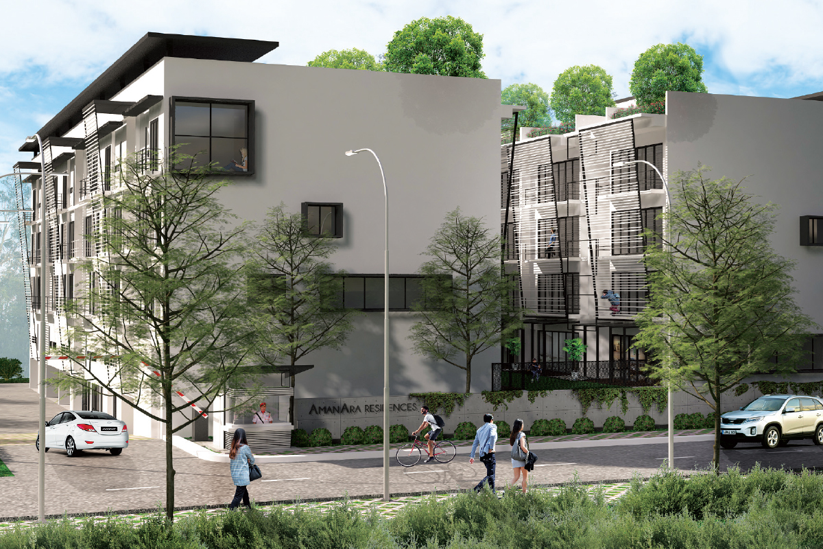 An artist's impression of the development's townhouse villas