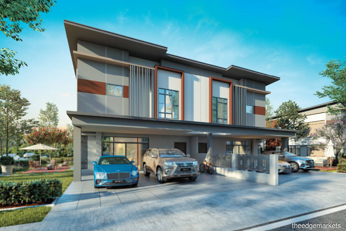 An artist's impression of the 2-storey semidees in Phase 2C of Ridgewood (Photo by KSL Holdings)